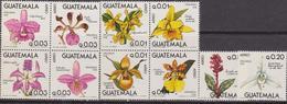 Guatemala 1978 Flora Flowers Blumen Orchids Airmail 2 Blocks MNH - Orchidee