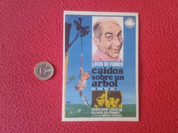 SPAIN PROGRAMA DE CINE FOLLETO MANO CINEMA PROGRAM PROGRAMME FILM CAIDOS SOBRE UN ÁRBOL LOUIS FUNES GERALDINE CHAPLIN - Cinema Advertisement