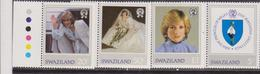 1982 Princess Diana 21st Birthday MNH Stamp Set Swaziland SG 404-407 - Case Reali