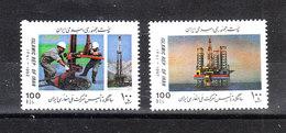 Iran  - 1992. Trivellazione Estrazione Del Petrolio. Drilling Extraction Of The Oil. Complete MNH Series - Fabbriche E Imprese