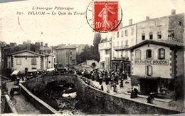63-BILLOM- Quai Du Terail ( Marché, Boucherie Boudon) - Francia