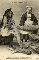 1er AVRIL EN BRETAGNE LORSQUE VOUS OUVRIREZ CES MERVEILLEUX POISSONS Types Typen Bretagne Großbritannien Brittany - Bretagne