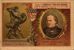 3 Chromo - Chocolat Poulain Orange - Sculteur - Chapu Falguière Barye  - Bill-884 - R/V - Poulain
