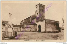 31. CARBONNE . La Place De L'église . - Francia