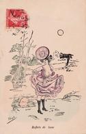 Carte 1910 Signée HIGH / REFLETS DE LUNE Coquin,érotique,fesse , Chapeau - Illustrators & Photographers