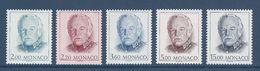 Monaco - YT N° 1671 à 1675 - Neuf Sans Charnière - 1989 - Monaco
