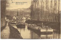 18 - MENETREOL-sous-SANCERRE - Bords Du Canal. Animée, Circulé En 1938. BE. - Péniches