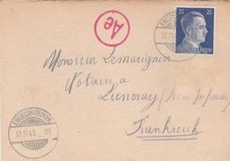 Lettre D'un Prisonnier De Guerre Au Lazarett OT D'Engelskirchen Von Koln Pour Luneray (Seine Infre). (TTB) - Guerre De 1939-45