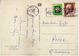"""Yugoslavia Croatia Split 1968 Slogan/flamme ,,JUGOVIN - Split """" Chemical Industry - 1945-1992 République Fédérative Populaire De Yougoslavie"""