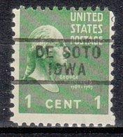 USA Precancel Vorausentwertung Preo, Locals Iowa, De Soto 729 - Vereinigte Staaten