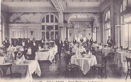 Cpa -73-aix Les Bains-animée-hotel Mirabeau,le Restaurant-edi J.J. N°9486 - Aix Les Bains