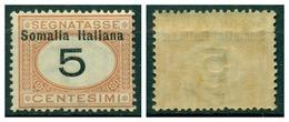 V7490 ITALIA COLONIE SOMALIA 1926 Segnatasse 5 C. MNH**, Sass. 41,  Ottime Condizioni - Somalia
