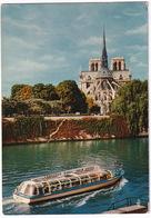 Paris - Chevet De Notre-Dame, Vue Prise De L'Ile Saint-Louis  - Bateau D'excursion 'Vedettes - Tours' - Notre-Dame De Paris
