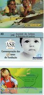 3 Télécartes Brésil Enfant   (D 527) - Brésil