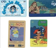 4 Télécartes Brésil   Comic (D 528) - Brésil