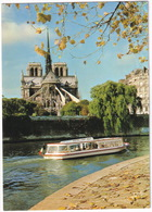 Paris - Notre-Dame, La Seine Et Le Quai De L'ile Saint-Louis  - Bateau D'excursion 'Vedettes - Pont-Neuf' - Notre-Dame De Paris