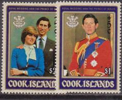 Cook Is.1981 ROYAL WEDDING SET SG 812-813 MNH. - Case Reali