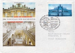 Postal History: Germany Postal Stationery Cover With Special Cancel Dresden Gottfried Semper - [7] Federal Republic