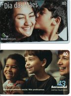 2 Télécartes Brésil Enfant Children  (D 530) - Brésil