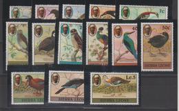 Sierra Leone 1980 Oiseaux Série 426-39 14 Val ** MNH - Sierra Leone (1961-...)