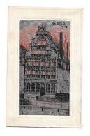 Gand, Soie Tissée Et Brodée, 1918. Carte Lumineuse. - Belgique