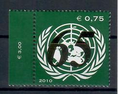 ONU - NAZIONI UNITE - VIENNA 2010 - 65° ANNIVERSARIO ONU -  MNH ** - ONU