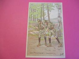 Carte Postale/Scoutisme / Le Pistage/ Belle Jardinière/Paris/JOB/Vers 1920-1930   CPDIV264 - Scoutisme