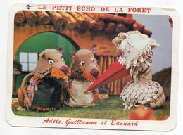 Série TV Sur A2 --datée  1984 -- Le Petit Echo De La Forêt--Adèle,Guillaume Et Edouard---carte Toilée - Séries TV