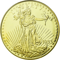 United States Of America, Médaille, Reproduction Twenty Dollars Liberty, FDC - Etats-Unis