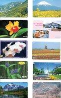 10 Télécartes Japon Japan  Fleur Flower Phonecard (D 532) - Fleurs