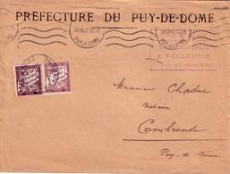 PUY DE DOME - PREFECTURE DU PUY DE DOME - TAXE SIMPLE A PERCEVOIR - 1F50 - A CAMBRANDE 28-8-1942. - Lettres Taxées