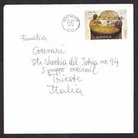 Slovenia: Cover To Italy, 2005, 1 Stamp, Food, Bread, Cancel Novo Mesto (minor Crease) - Slovenië