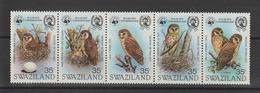 Swaziland 1982 Oiseaux Série 399-403 5 Val ** MNH - Swaziland (1968-...)