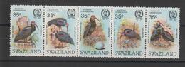 Swaziland 1984 Oiseaux Série 447-51 5 Val ** MNH - Swaziland (1968-...)