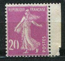 "FRANCE ( POSTE ) : Y&T  N° 190  TIMBRE  NEUF  "" 20  SANS  C ""  SANS  TRACE  DE  CHARNIERE . - Abarten Und Kuriositäten"