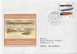 Postal History: Germany Postal Stationery Cover - Zeppelins