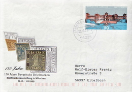 Postal History: Germany Postal Stationery Cover - Stamps On Stamps