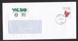 Slovenia: Cover, 1998, 1 Stamp, Chicken Shaped Mug, Pottery, Ceramics, Heritage, Cancel Petrovce (traces Of Use) - Slovenië