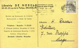 CP Publicitaire BRUXELLES 1952 - Librairie DE NOBELE - Belgique