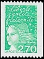 France Marianne Du 14 Juillet N° 3100 ** LUQUET - La Roulette Verte De 2.70 Frs - 1997-04 Marianne Du 14 Juillet