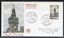 FDC 1955 - 1025 5ème Centenaire Du Jacquemart De Moulins - FDC
