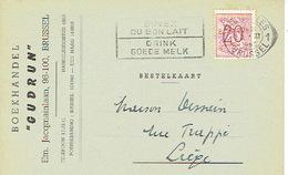 """CP Publicitaire BRUXELLES 1953 - Librairie """"GUDRUN"""" - Boekhandel - Belgique"""