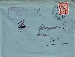 PUY DE DOME - ISSOIRE - 7-2-1932 - TAXE 1F - LETTRE DE NOTAIRE. - Lettres Taxées