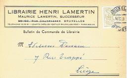 CP Publicitaire BRUXELLES 1959 - LIBRAIRIE HENRI LAMERTIN - Belgique