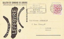 CP Publicitaire BRUXELLES 1952 - LIBRAIRIE LEFEBVRE - Belgique