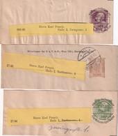 AUTRICHE    ENTIER POSTAL/GANZSACHE/POSTAL STATIONERY  LOT DE  3 BANDE JOURNAL - Entiers Postaux