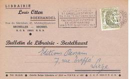 CP Publicitaire BRUXELLES 1947 - LIBRAIRIE LOUIS OTTEN - Belgique