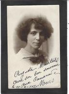 Autographe Signature Sur CPSM à L'encre Augusta Maertens Mons Belgique - Autographes
