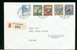 SVIZZERA  -   PRO PATRIA  1967  -  FDC   Raccomandata Con Timbro Di Arrivo - Pro Patria