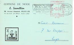 CP Publicitaire BRUXELLES 1954 - EDITIONS DE MODE - E. SOUMILLON - Belgique
